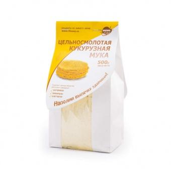 Мука кукурузная цельнозерновая 500 г (Образ Жизни)