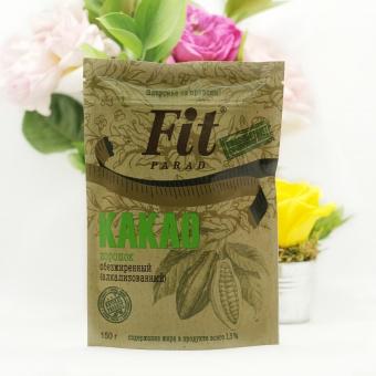 """Какао обезжиренный """"Фит Парад"""" 1,5%, порошок 150 грамм"""