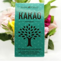 Какао-порошок, натуральный, без сахара 12% Royal Forest, 100 гр