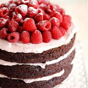 Шоколадный пп торт с нежным малиновым кремом