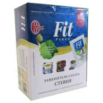 Сахарозаменитель Fit Parad (ФитПарад) N14, саше 100 пакетиков, 50 грамм